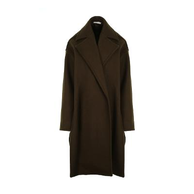 drop shoulder boxy coat